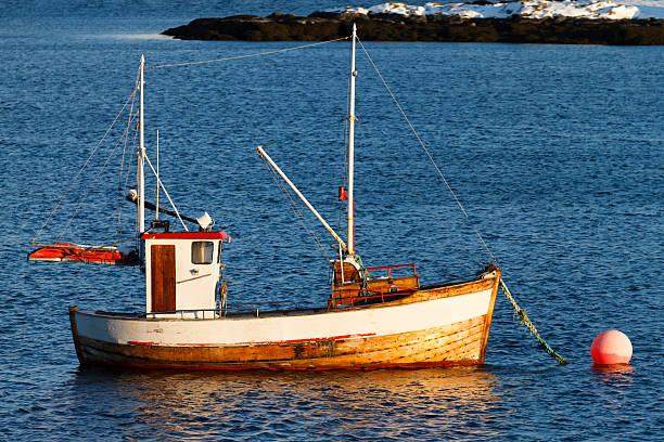 Small fishing boat. stock photo