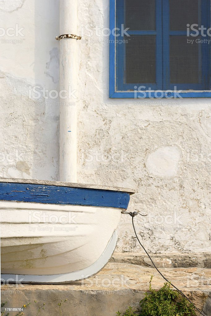 Small fishing boat royalty-free stock photo