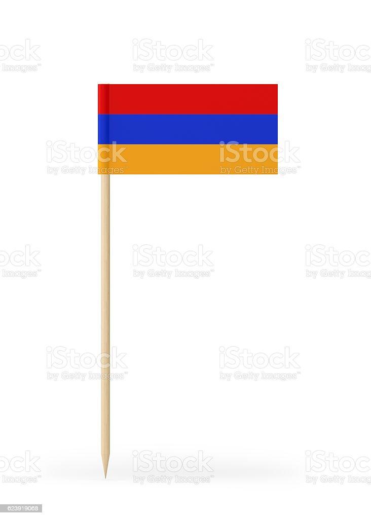Small Flag of Armenia on a Toothpick stock photo