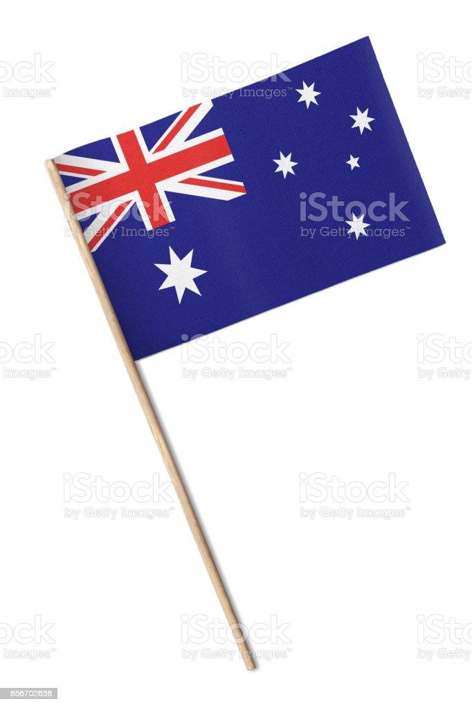 Small flag of Australia stock photo