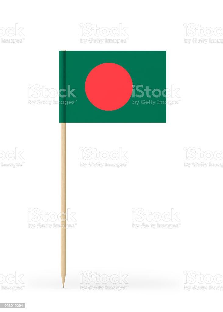 Small Flag of Bangladesh on a Toothpick - foto de stock