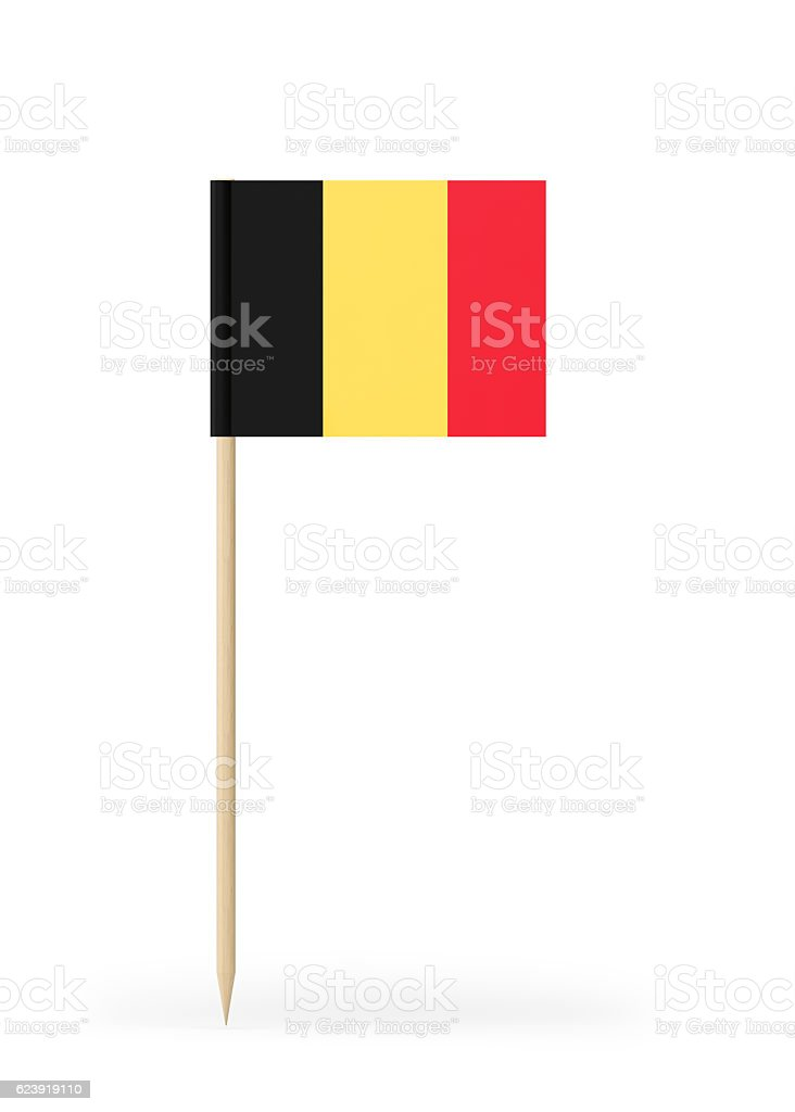 Small Flag of Belgium on a Toothpick - foto de stock
