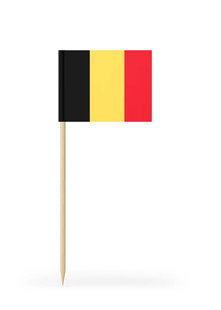 Small Flag of Belgium on a Toothpick - Photo