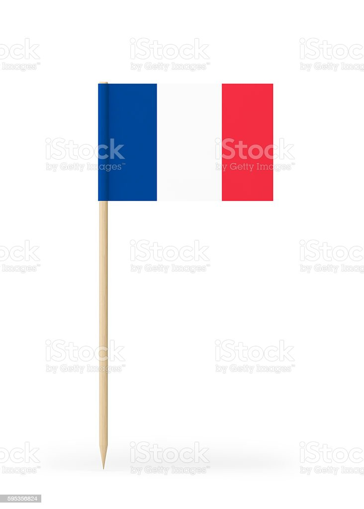 Small Flag of France on a Toothpick - foto de stock