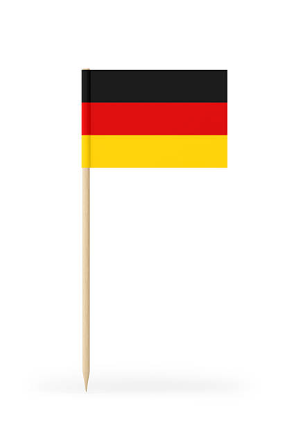 small flag of germany on a toothpick - drapeau allemand photos et images de collection