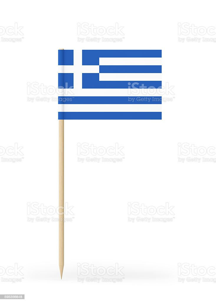 Small Flag of Greece on a Toothpick - foto de stock