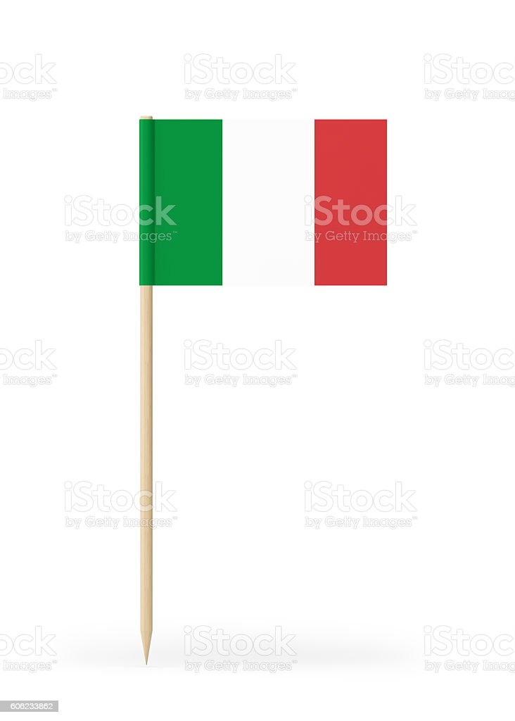Small Flag of Italy on a Toothpick stock photo