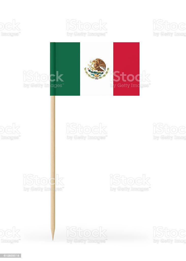 Small Flag of Mexico on a Toothpick - foto de acervo