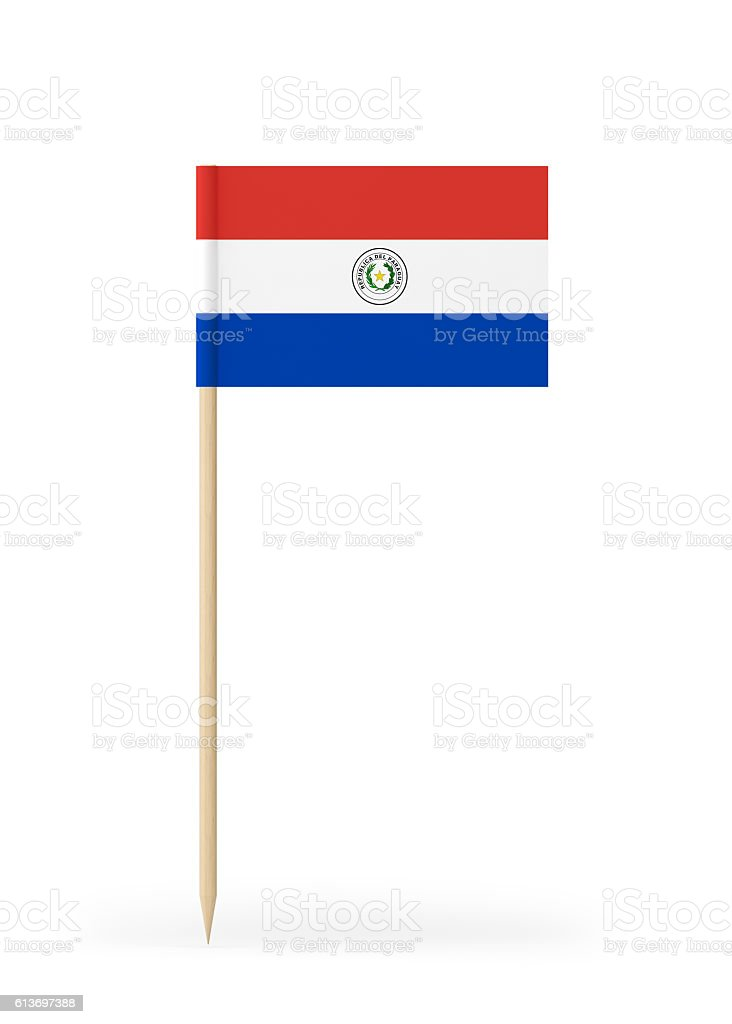 Small Flag of Paraguay on a Toothpick - foto de stock