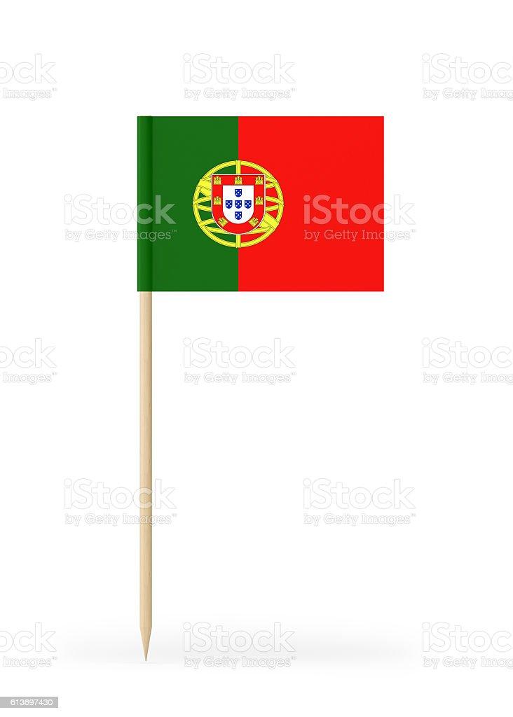 Small Flag of Portugal on a Toothpick - fotografia de stock