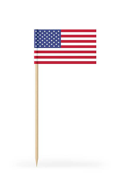 small flag of usa on a toothpick - palitinho - fotografias e filmes do acervo