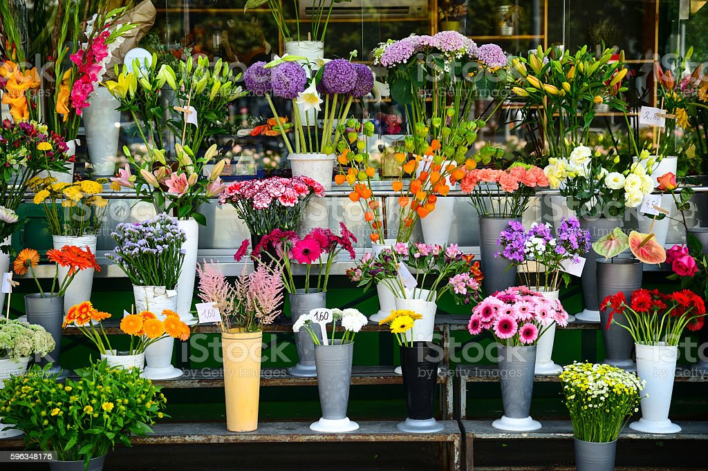 small flower shop royalty-free stock photo