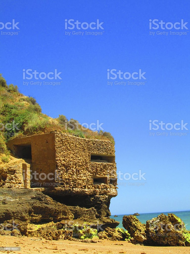 Small fortification in Conil, Andalucia royalty-free stock photo
