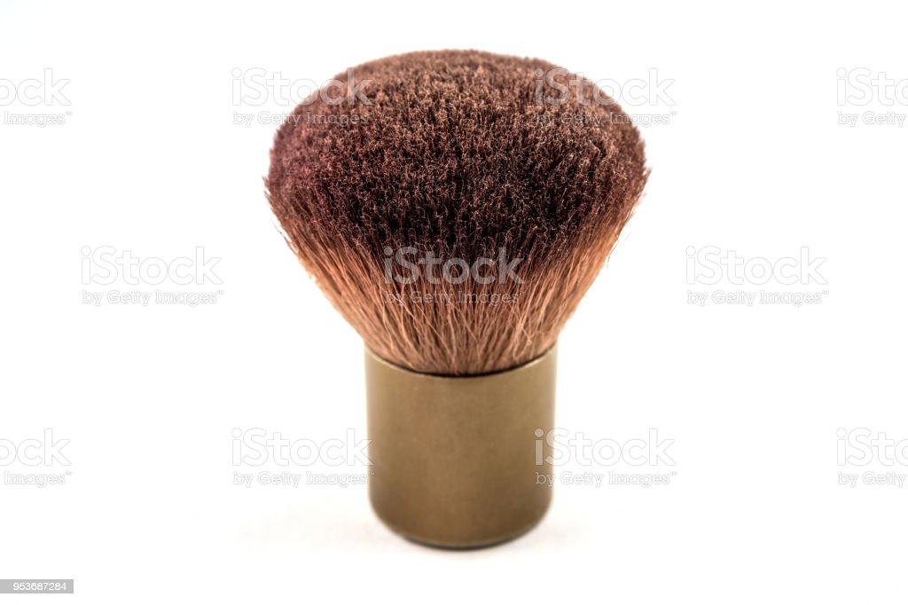 Small foundation make up brush isolated on white background stock photo
