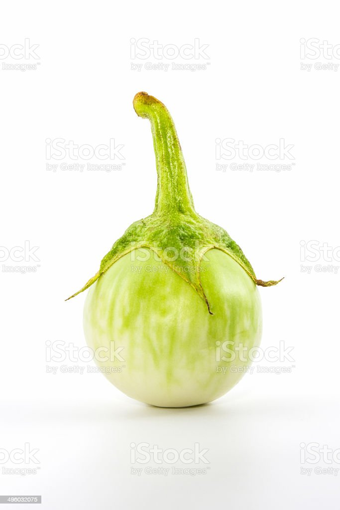 Small fresh eggplant. royalty-free stock photo