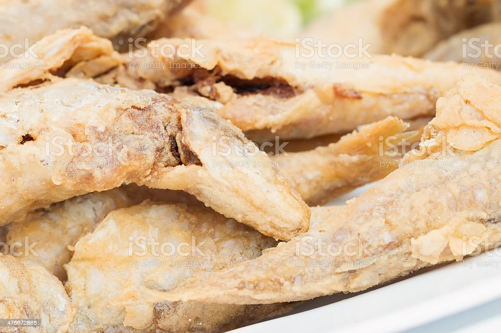 Small fried fish stock photo
