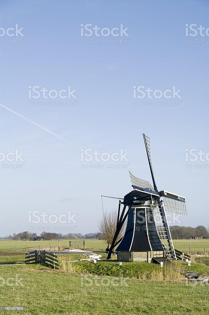 Small Frisian Windmill royalty-free stock photo
