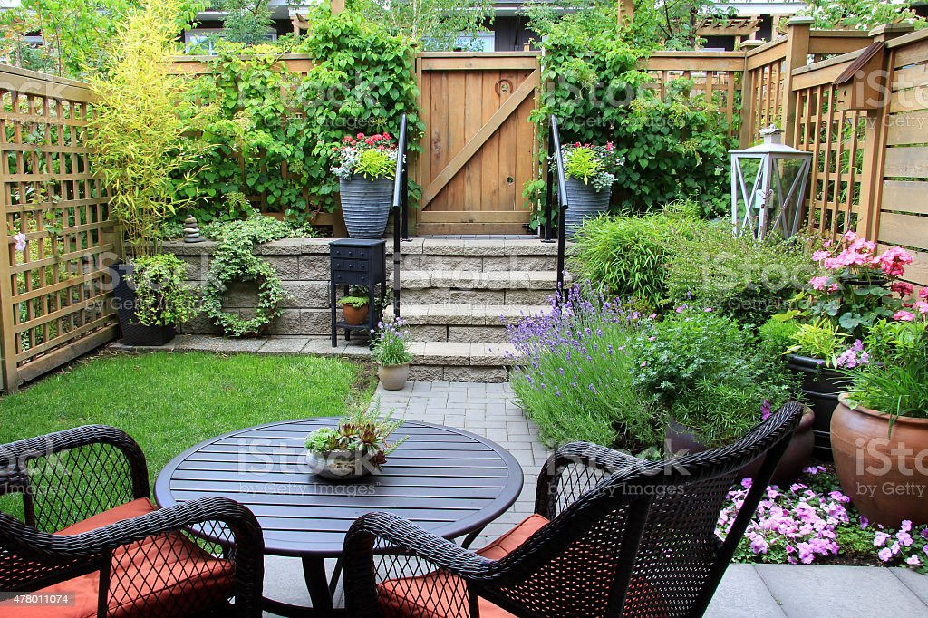 Small garden.