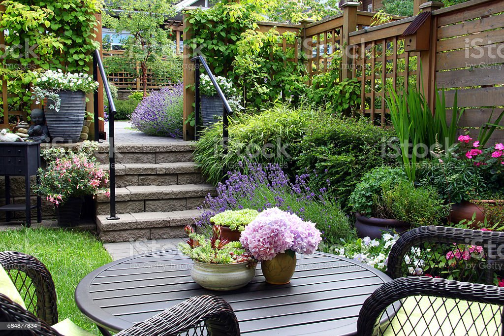 Small garden royalty-free stock photo