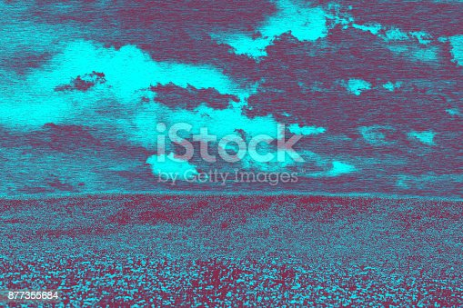 istock Small german lake with blue sky in the black forest 877355684