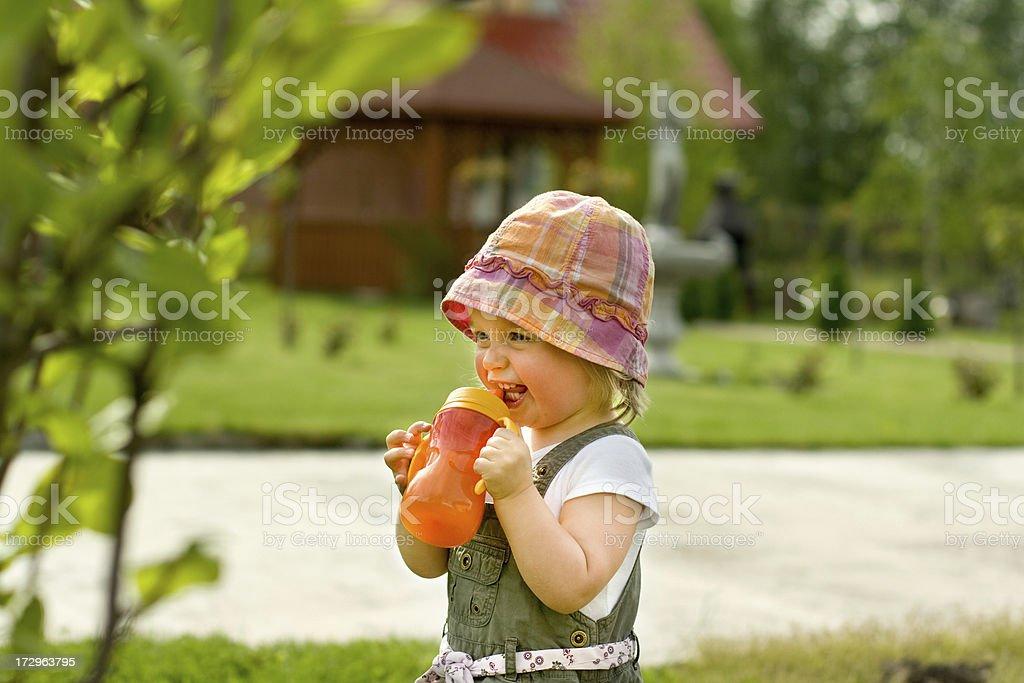 Small girl having fun royalty-free stock photo