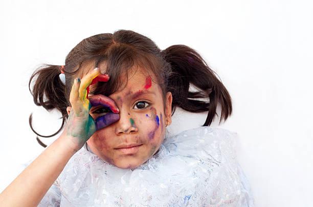 spielt mit farben - maler gesucht stock-fotos und bilder