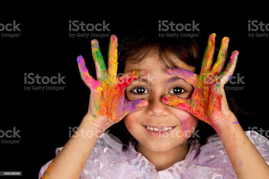 Jugando con los colores foto de stock libre de derechos