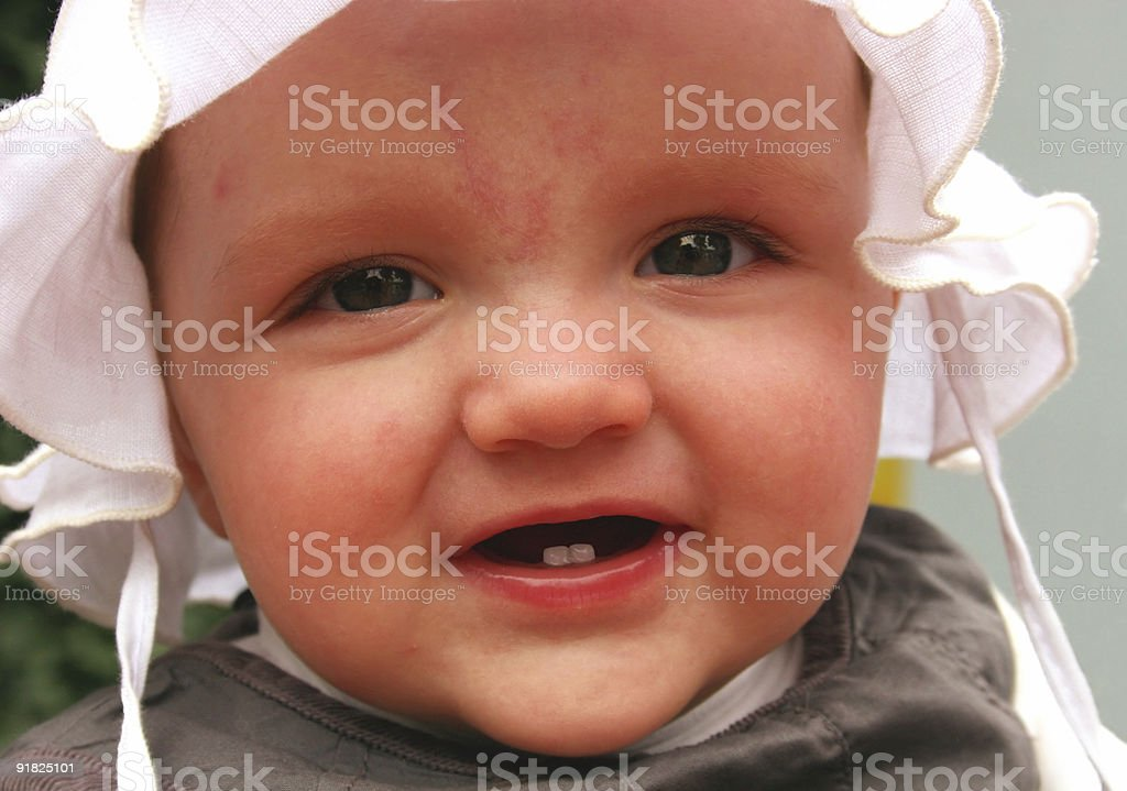 Small Girl with two teeth royalty-free stock photo