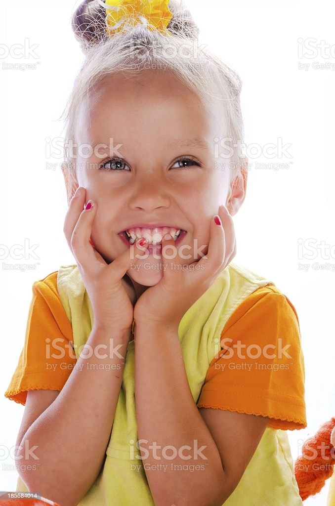 small girls portrait royalty-free stock photo