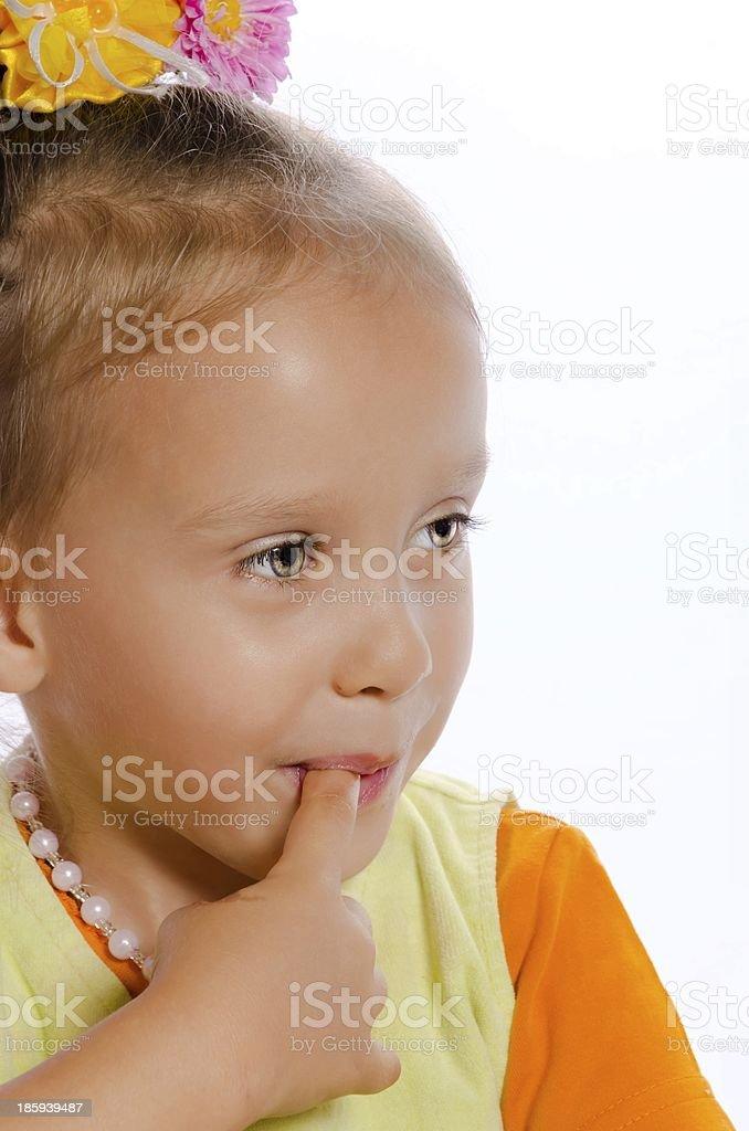 small girls portrait royalty-free stock photo