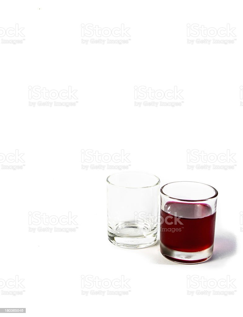 small glass and red water royalty-free stock photo
