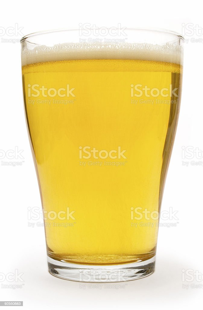 Small Glass of Beer stock photo