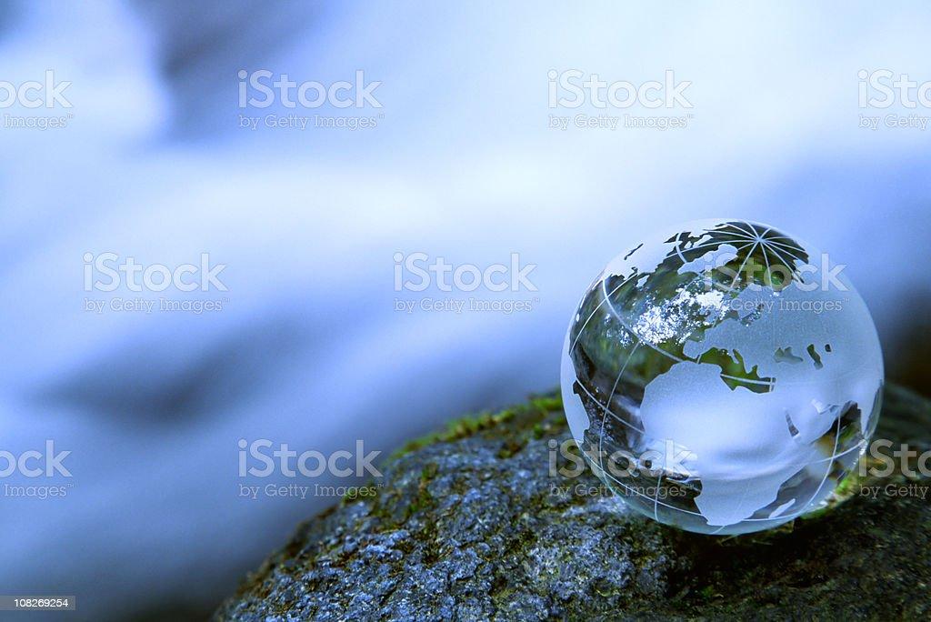 Small Globe Near Stream royalty-free stock photo