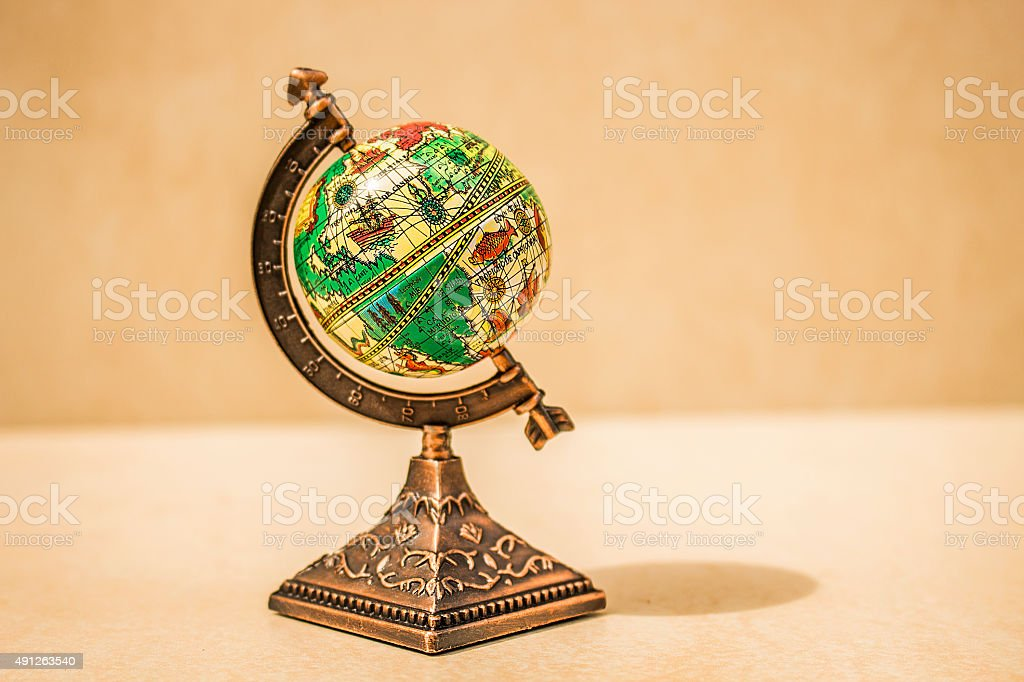 Small globe stock photo