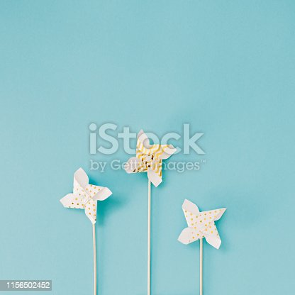 istock Small Golden Pinwheel toy fan 1156502452