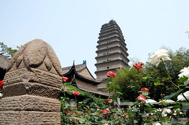 Small Goose Pagoda & Garden - Xi'an China stock photo