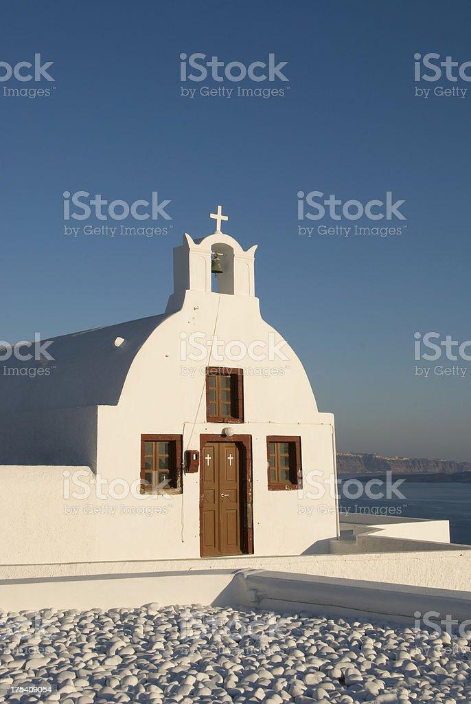Small Greek Church royalty-free stock photo