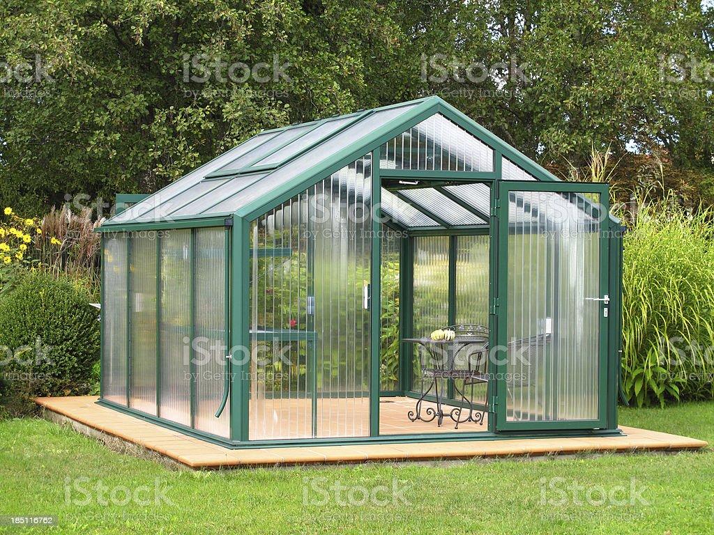 Small greenhouse royalty-free stock photo