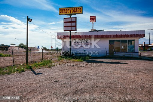 Deming, New Mexico, United States - July 31, 2013: Small Grocery Store on the periphery of the city