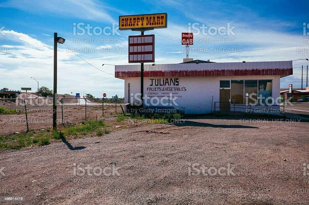 Small Grocery Market Store in New Mexico, USA stock photo