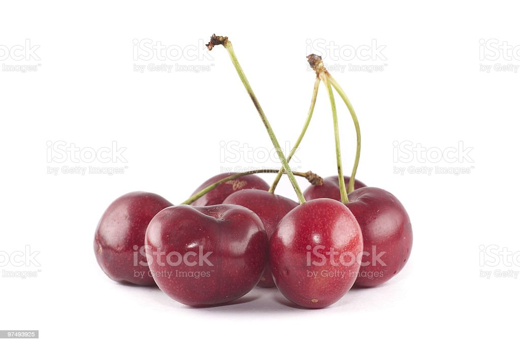 Small group of cherries royalty-free stock photo