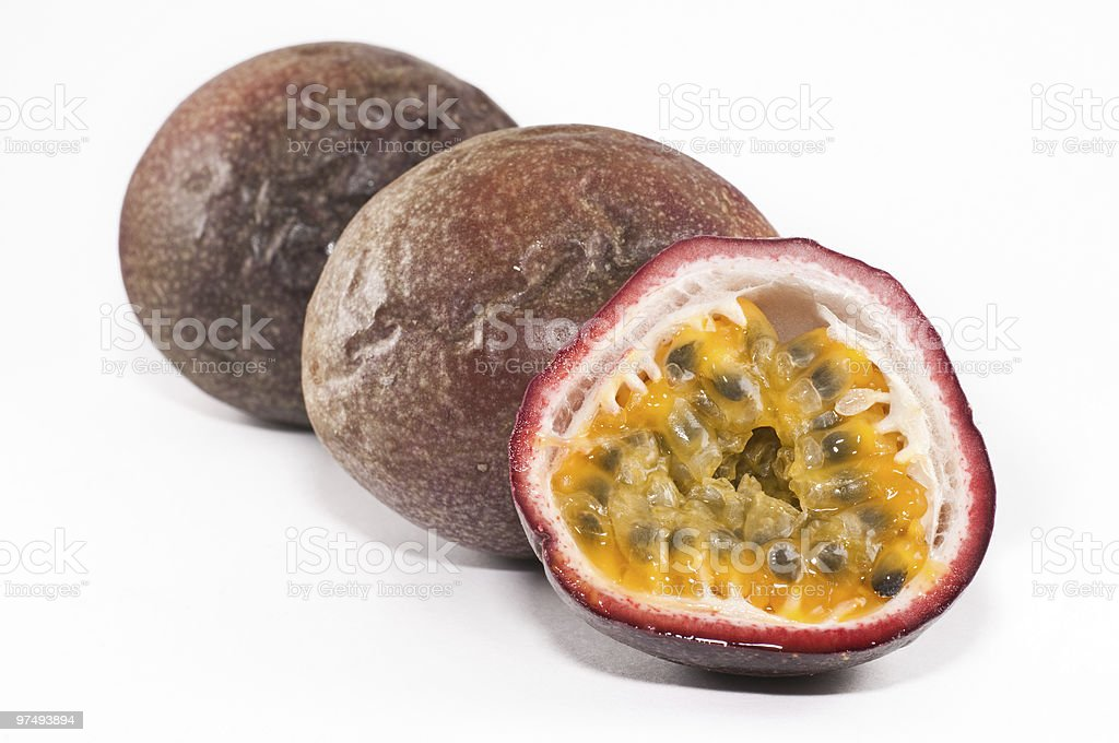 Small group of passion fruits royalty-free stock photo