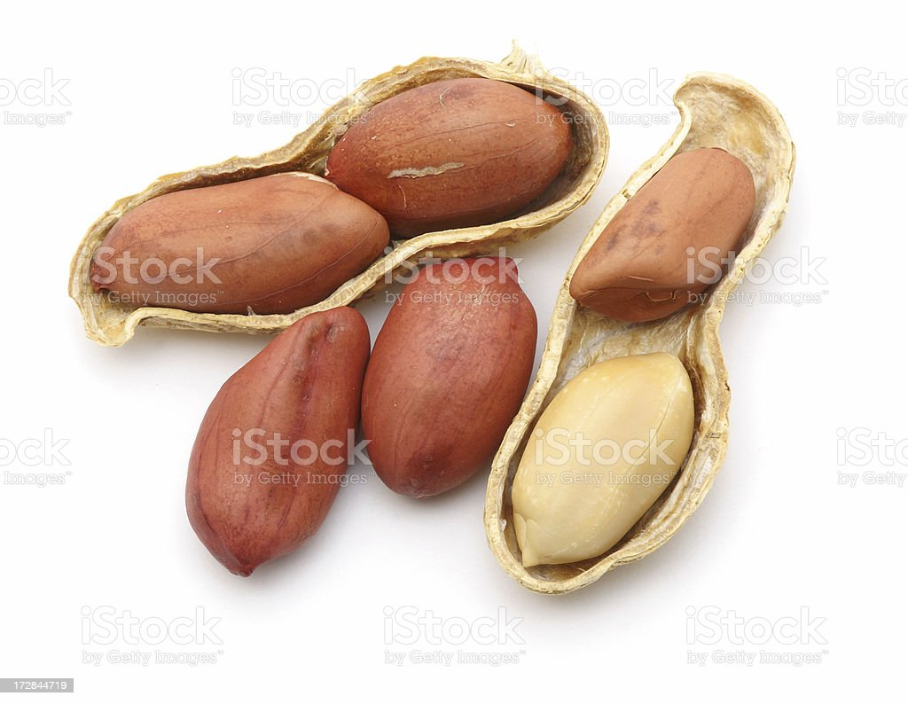 Small group of peanuts royalty-free stock photo