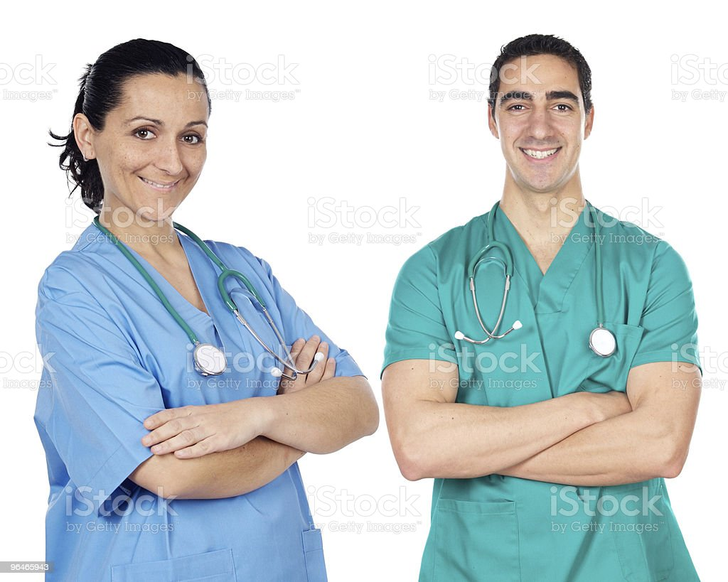 small group of young doctors royalty-free stock photo