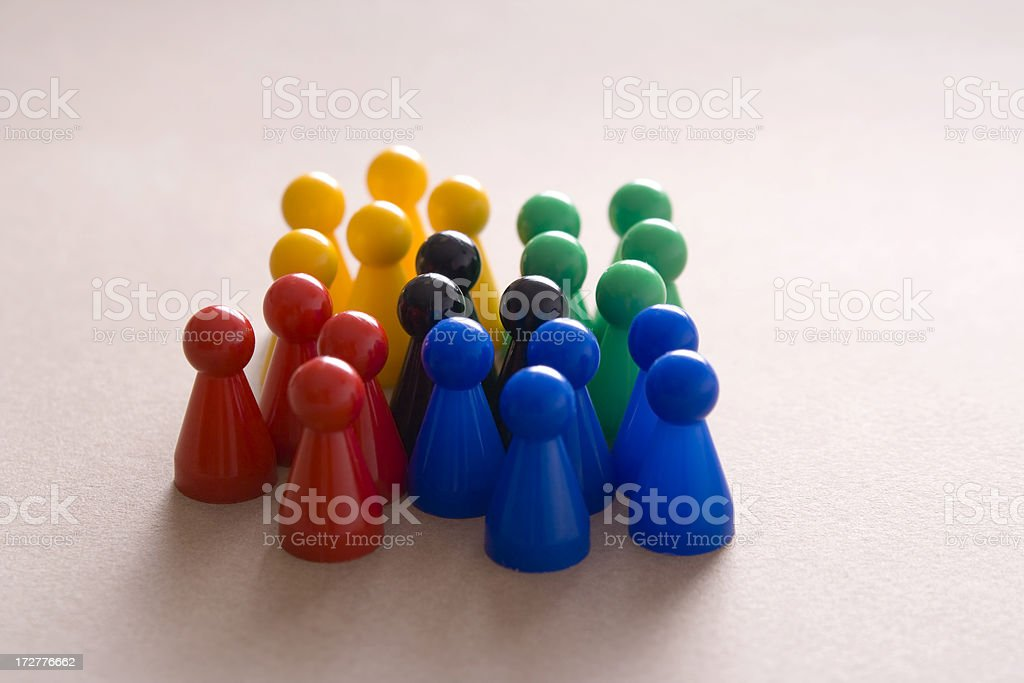 Small groups forming a larger congregation royalty-free stock photo
