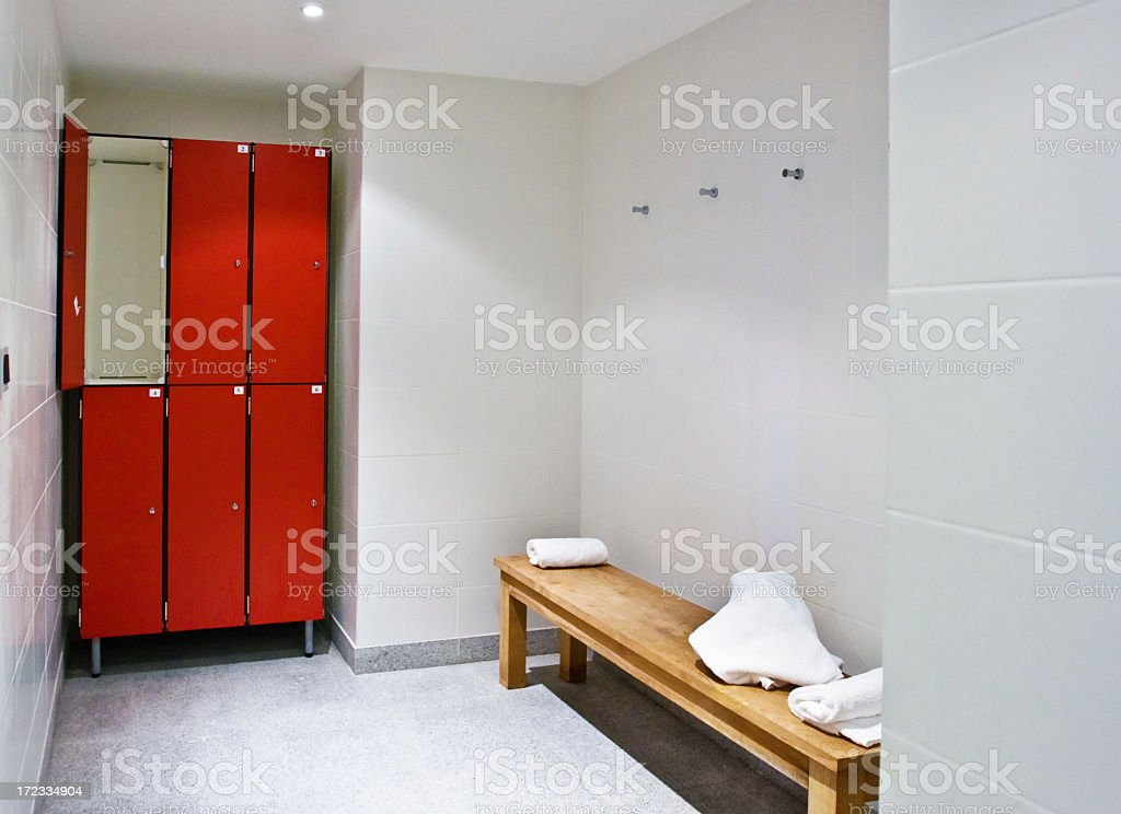 Small gym changing room royalty-free stock photo