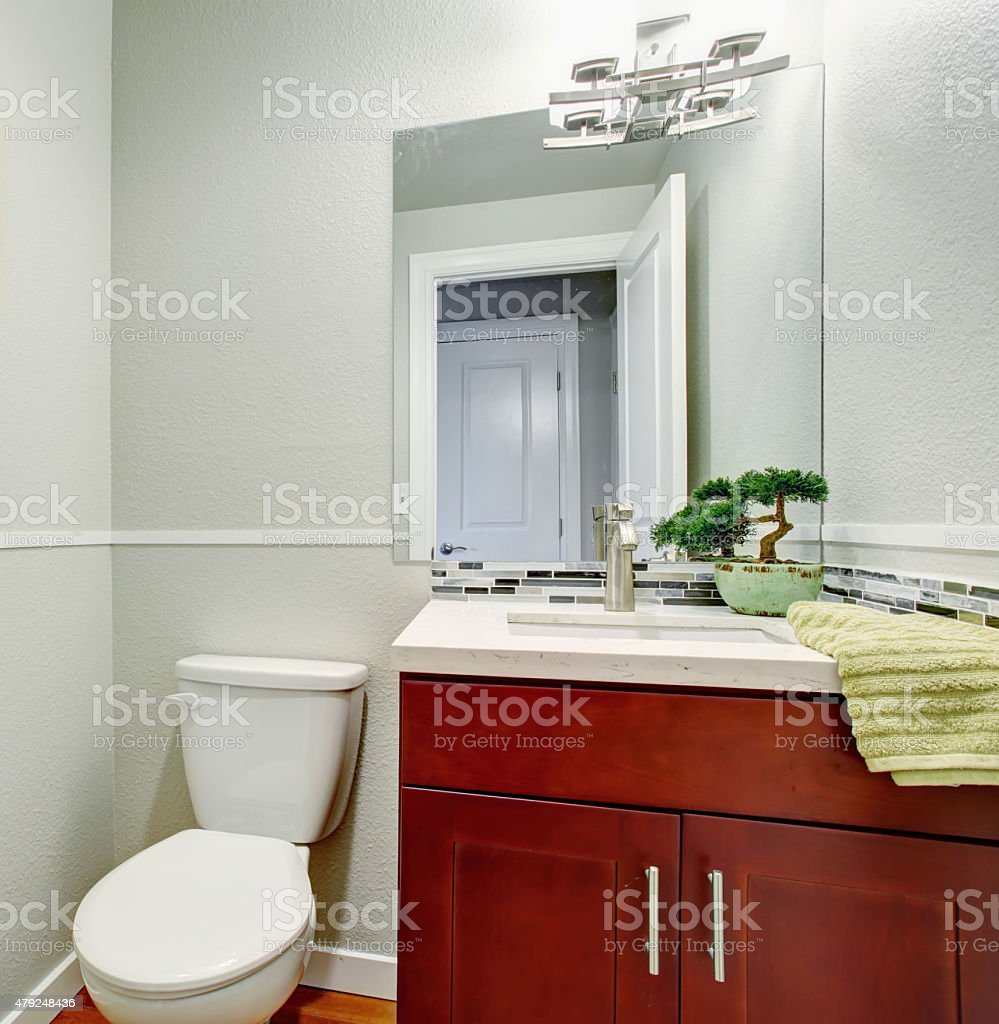 Cabinet D Architecte Nice small half bathroom with nice cabinets stock photo