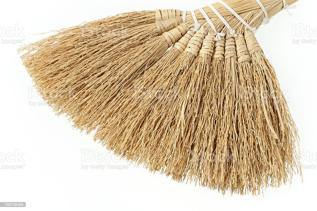 Small, hand-made broom. royalty-free stock photo
