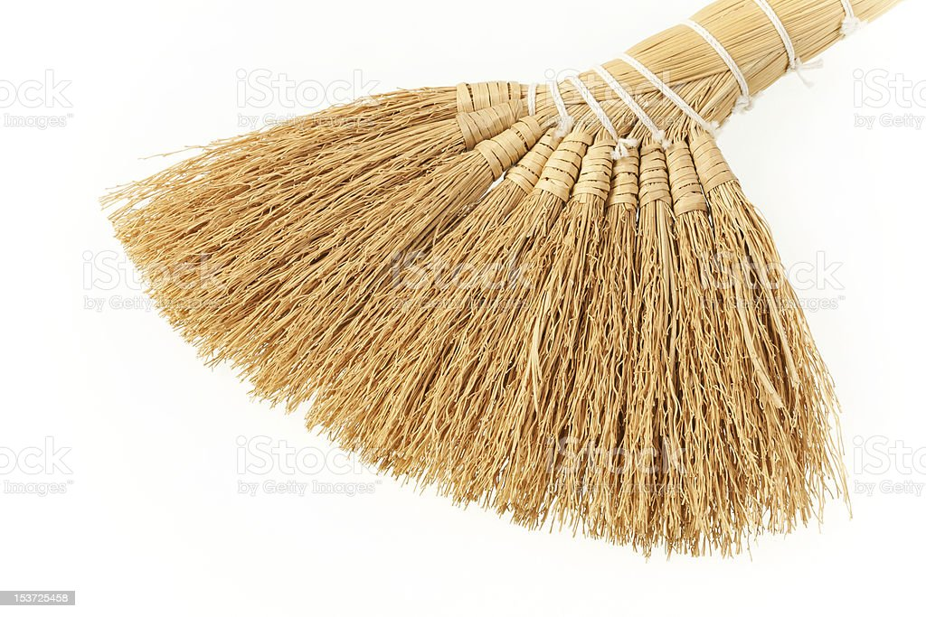 Small, hand-made broom. stock photo