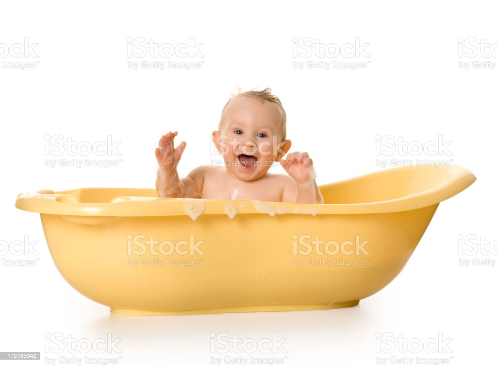 small, happy child in bath royalty-free stock photo